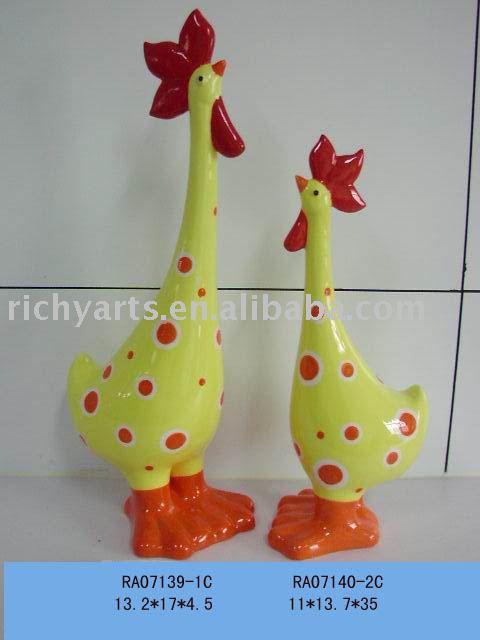 Cadeau en céramique de Pâques, décoration de coq, travail manuel de ...