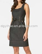 13DR075 New Design Black sexy Ladies Dress for summer 2012