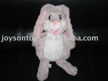 rabbit shaped stuffed plush hand puppet toy