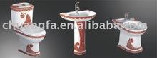 chaozhou ceramic two piece toilet ,pedestal basin