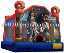 2012 Best Seller indoor or outdoor commercial vinyl tarpaulin CB-211 for children or adult in America style pirate jump houses