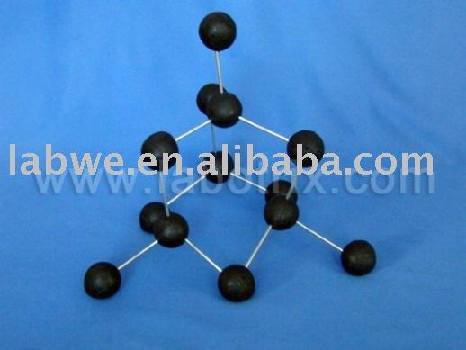 Diamante estructura molecular modelo