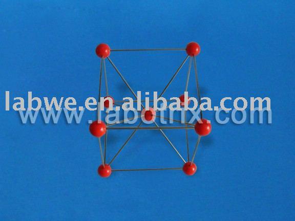 Cristal de hierro estructura molecular modelo