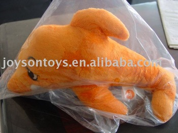 plush yellow dolphin