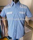 casual shirt 100% cotton short sleeve shirt