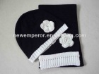 Fashion winter hat and scarf set