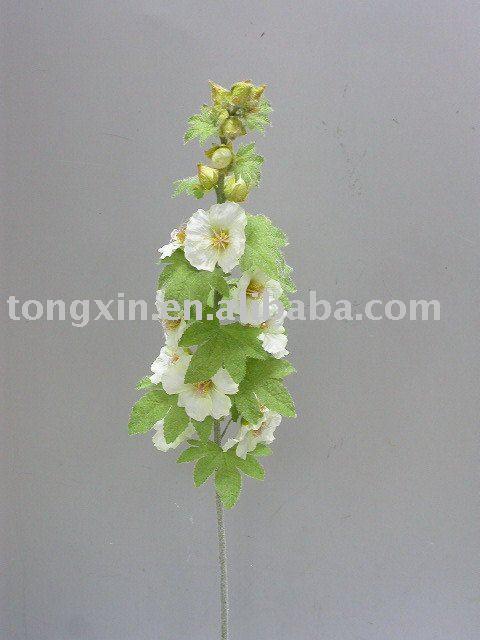 artificial flower hollyhock