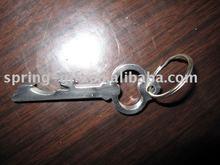 metal key shape bottle opener with key chain