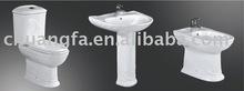 Toilet, Basin With Pedestal, Bidet