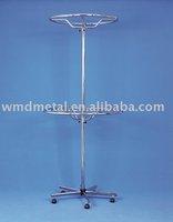 stand-031 stainless steel retail revolving circle stand,tie,bag,belt display spinner display rack