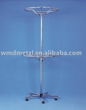 stand-031 stainless steel retail revolving circle stand,tie,bag,belt display spinner display rack