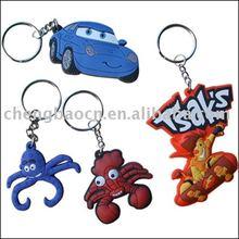 soft rubber key chain