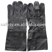Black Pig Grain Leather Glove