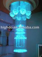 2011 unique chandelier design, Optic fiber light