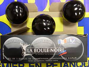 BOULE DE PETANQUE XCOU LA BOULE NOIR Diam. 73 Pds 700