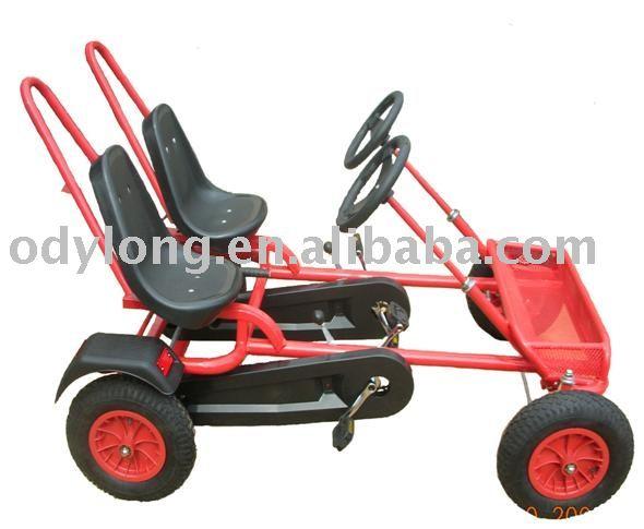 go kart design. two seats pedal go kart,latest