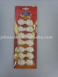 Dog treats:bleached rawhide knotted bone