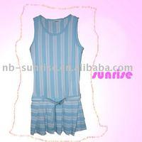 Children's cotton knitted sleeveless dress