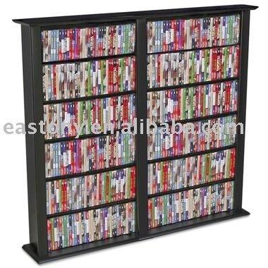 Cd tower wooden cd tower wooden cd rack media storage - Muebles para guardar cds ...
