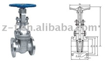 API 6D gate valve (Rising stem gate valve,stainless steel gate valve)