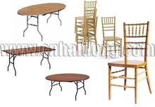 Banquet Equipment Chiavari Chair and Folding Table