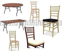 La fuente del partido Chiavari silla y mesa plegable