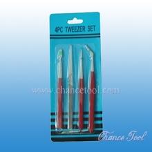 4pcs Tweezers iron electronic tweezers ET116