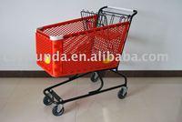 120L Plastic Shopping Cart, Plastic Shopping Trolley, Supermarket Shopping Cart, Shopping Cart.