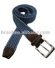 braided belt beaded leather belt