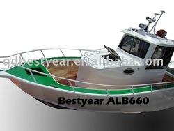 Aluminum Boat pilot house 660 fishing boat