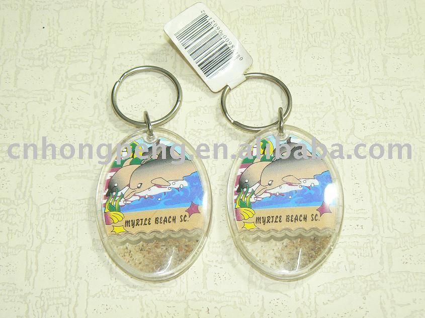 plastic key ring /acrylic key chain / promotion key chain