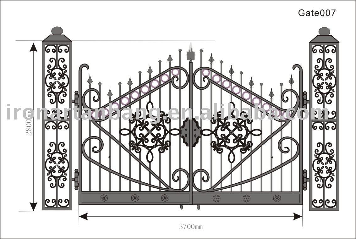 Puertas de hierro forjado, puertas de hierro forjado, puertas de metal - e
