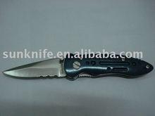 stainless steel folding pocket single blade knife lock knife liner lock folding knife KM01