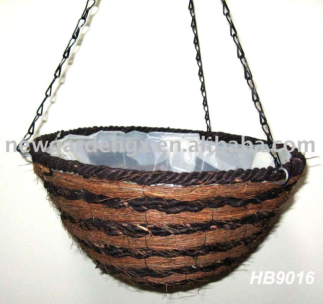 Hanging Flower Baskets Supplier : Home gt product categories rattan hanging basket