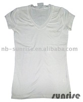 women elastane tight fit T-shirt