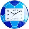 Football design glass wall clock
