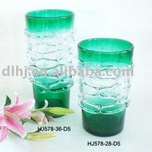 Murano Glass Vases in Green