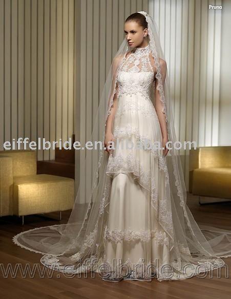 3482 new 09 style wedding dress petite long sleeve wedding dresses