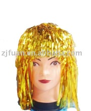 party decoration PET and PE tinsel wig/party wig/tinsel wig