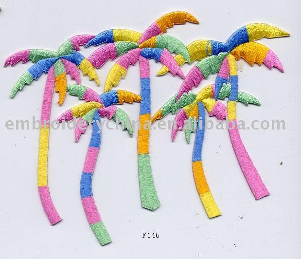 Árvores bordados para crianças vestuário acessórios