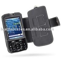 Leather Case for HP iPAQ 610c/612c/614c/610/612/614 Series - Book Type (Black)