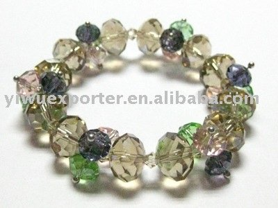 WHOLESALE FASHION JEWELRY STRETCH PLASTIC BEAD CRYSTAL BRACELET