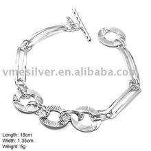 925 Silver Bracelet without MOQ, Plain Silver Bracelet (SL-179)