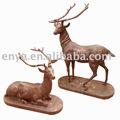 Escultura animal, hierro fundido Deer estatua