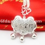 popular fashion jewelry 925 silver BB pendant