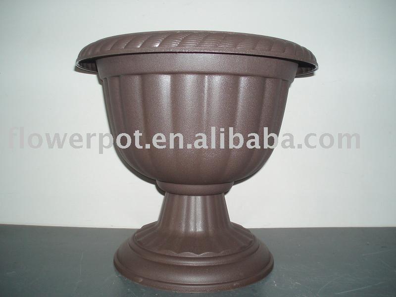 Fancy flower pot decorative flower pot plastic flower pot for Fancy flower pots