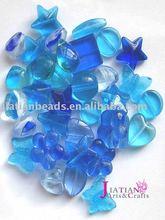 mixed glass beads, machine cut glass beads, cane glass beads