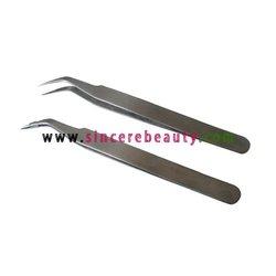 curved tweezers, eyelash extension tweezers, eyelash picking tweezers