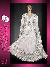 Pakistani Bridal Dresses(White Raw Silk Lengha)