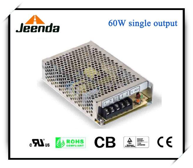 60W Single Output Switching power supply UL,TUV,CB,CE approved Switching power supply